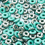 O-Bead 2x4 mm size 1.3 mm hole, Jade Chrome, 63130-27401