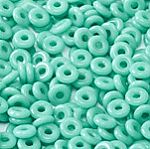 O-Bead 2x4 mm size 1.3 mm hole, Jade, 63130