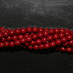 Czech glass pearls, 2mm Cranberry, 48265