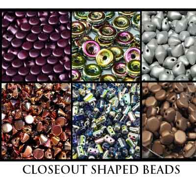 Closeout Shaped Beads