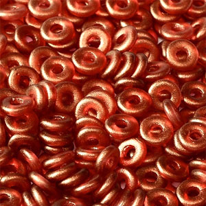 O-Bead 2x4mm size 1.3mm hole, GT Coral, 00030-29256