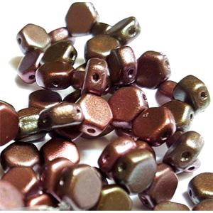 Matt Purple Gold Iris-30 beads