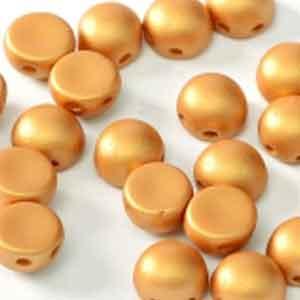 Matt Metallic Alabaster Gold- 6mm - 20 pieces
