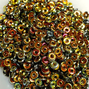 O-Bead 2x4 mm size 1.3 mm hole, Crystal Marea, 00030-28001