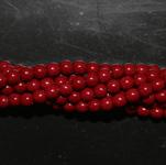 Czech glass pearls, 2mm Cranberry, 48265