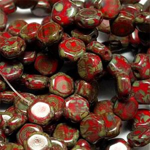 Red Travertin- 30 beads