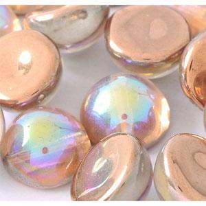 Copper Rainbow -5 beads - 14x8