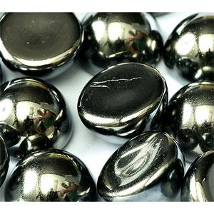 Full Hematite -5 beads - 14x8