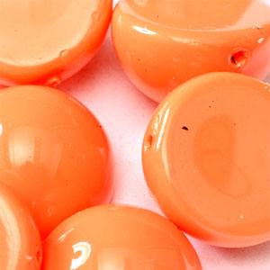 Peach Coral -5 beads - 14x8