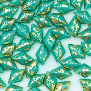 Green Turq Gold Splash GD apx 10g