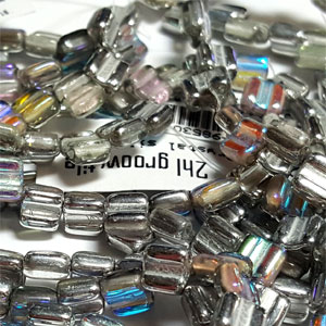 Silver Rainbow apx 30 beads