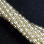 Czech glass pearls, 2mm Cream, 70440