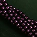Czech glass pearls, 2mm Purple, 70478