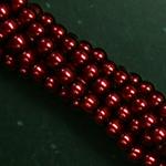 Czech glass pearls, 2mm Brick, 10185