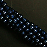 Czech glass pearls, 2mm Midnight Blue, 70968