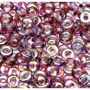 O-Bead 2x4mm size 1.3mm hole, Amethyst AB, 20060-28701