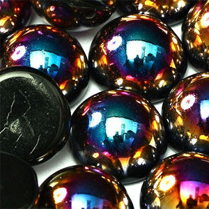 10x6mm-Jet Sliperit -10 beads