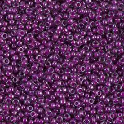 Purple Lined Crystal 15/0-48 grams