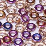 O-Bead 2x4mm size 1.3mm hole, Crystal Sliperit, 00030-29500