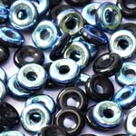 O-Bead 2x4mm size 1.3mm hole, Jet AB, 23980-28701