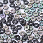 O-Bead 2x4 mm size 1.3 mm hole, Jet Apricot Medium, 23980-29121