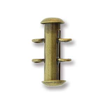 Tube 16mm Gold 2 Hole Vertical