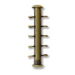 Tube 26mm BRASS Plate 5 Hole Vertical