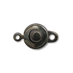 10 Ball Socket 9mm Clasps -Gun Metal