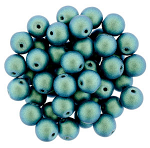 6mm Blue Aqua  apx 25 pcs