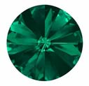12mm Emerald Rivoli