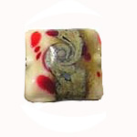Lampwork Wht Red Sil