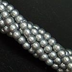 Czech glass pearls, 2mm Cool Grey Satin, 75483