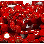 Gold Dust Terracotta Red- 30 beads