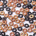 O-Bead 2x4 mm size 1.3 mm hole, Jet Sunset, 23980-27137