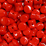 Czech Diabolo 4x6mm Opq Red