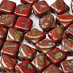 Red Travertin- 30 pcs