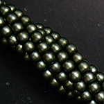 Czech glass pearls, 2mm Russian Green Satin, 85942