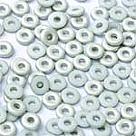 O-Bead 2x4mm size 1.3mm hole, Chalk White Labrador Matted, 03000-27071