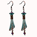 Reine de Lucite Teal and Copper