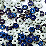 O-Bead 2x4mm size 1.3mm hole, Chalk White Azuro Matted, 03000-22271