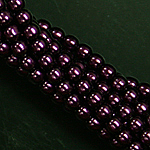 Czech glass pearls, 2mm Purple, 70478