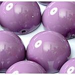 Hollyhock -5 beads - 14x8