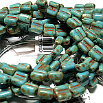 Green Turquoise Picasso  apx 30 beads