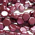 PASTEL Burgundy - 30 beads
